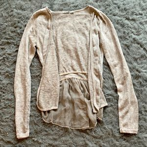 Lightweight Tan Cardigan